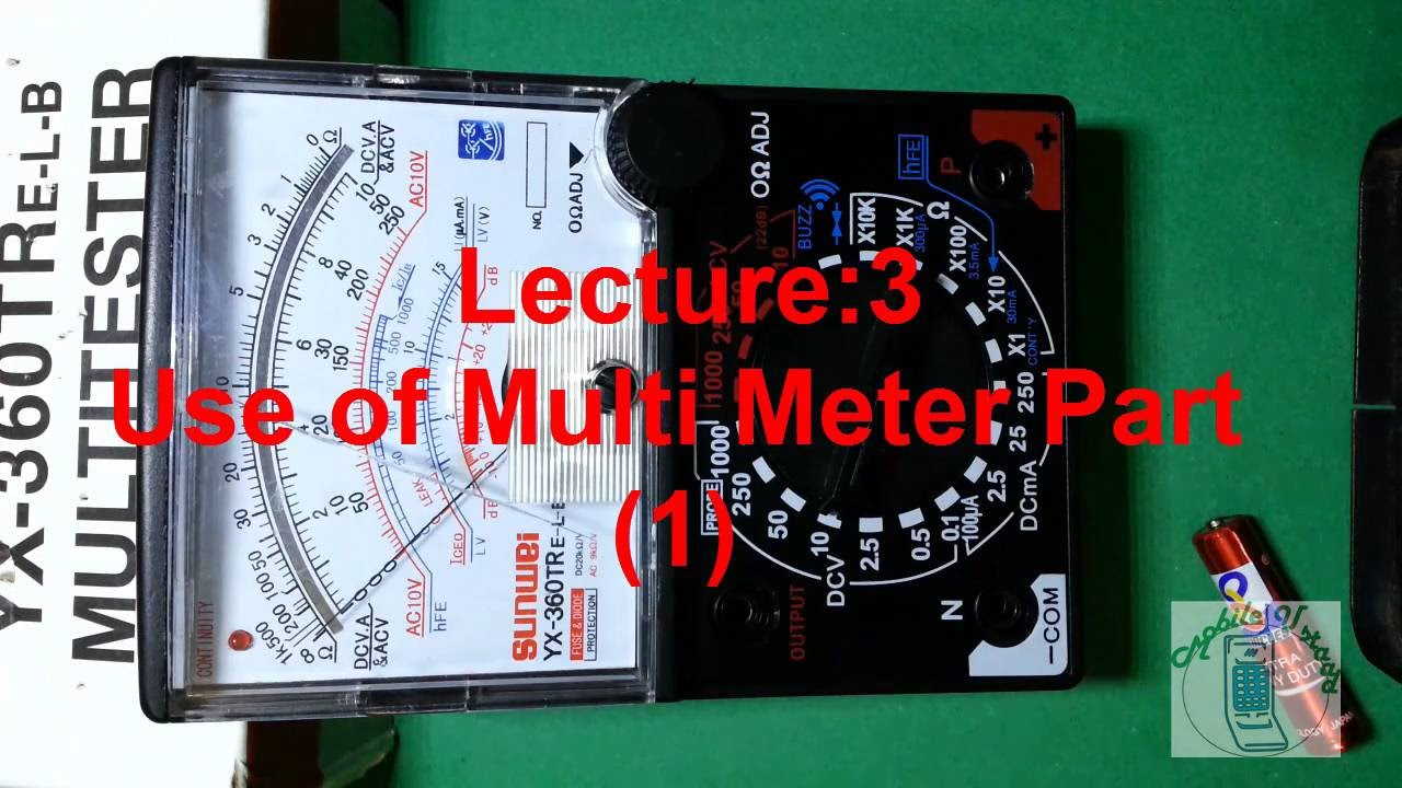 How to use Analog Multimeter Lecture 3