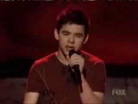 All The Songs David Archuleta Sang On American Idol