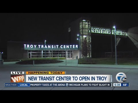 Troy transit center to open