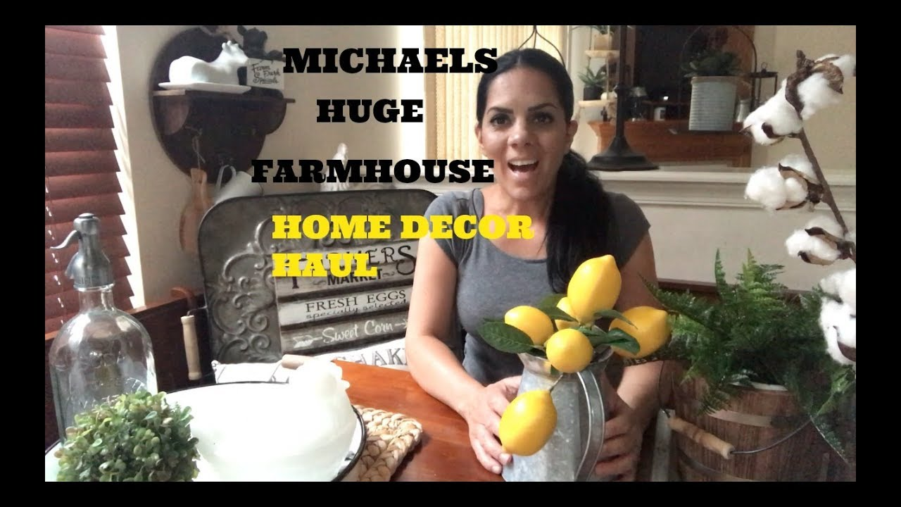 Michaels huge new farmhouse home decor haul 2017 youtube Michaels home decor