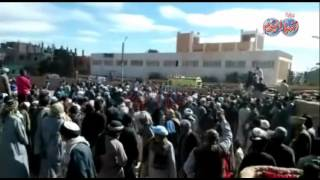 محافظ الأقصروقيادات الجيش والشرطة يتقدمون  تشييع جنازة شهيد قرية المريس برفح