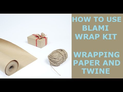 How to use BLAMI WRAP KIT wrapping paper (30''x100ft) and twine (200ft)