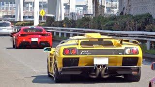 【大黒PA】スーパーカー加速サウンド❗️/Supercars sound in Japan. Aventador S, DiabloGT, Murcielago, GTR Nismo,and more