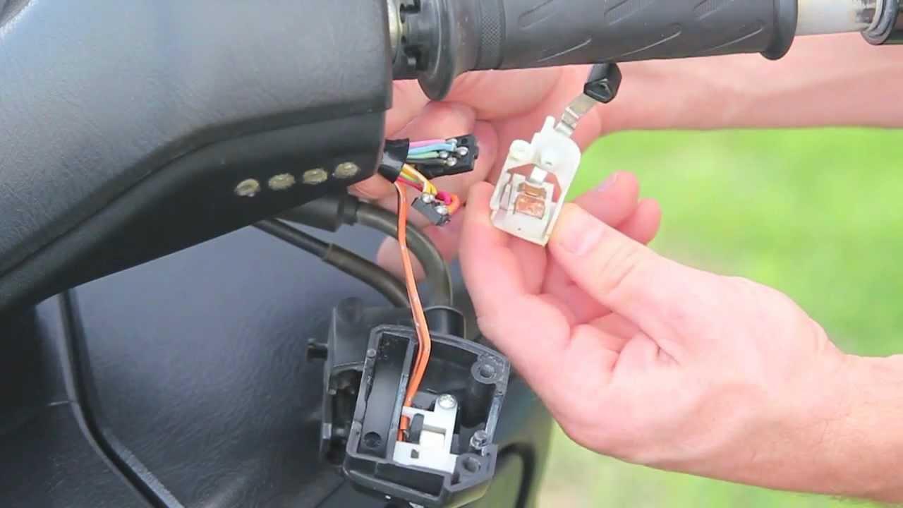 07 Suzuki Burgman 400  Starter Switch Disassembly