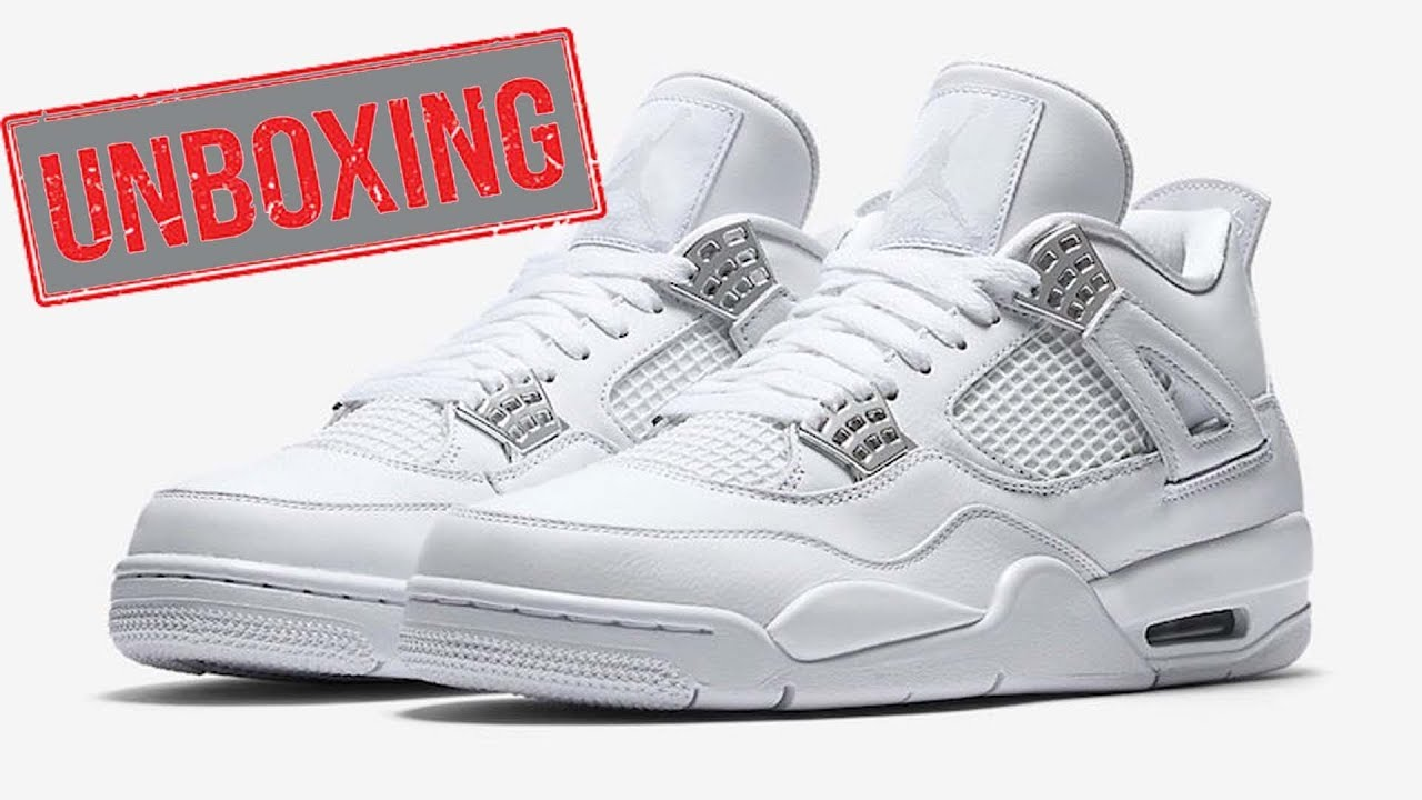 10d352b07e59 Jordan Retro 4   Pure Money BG V GS   ✓ - YouTube