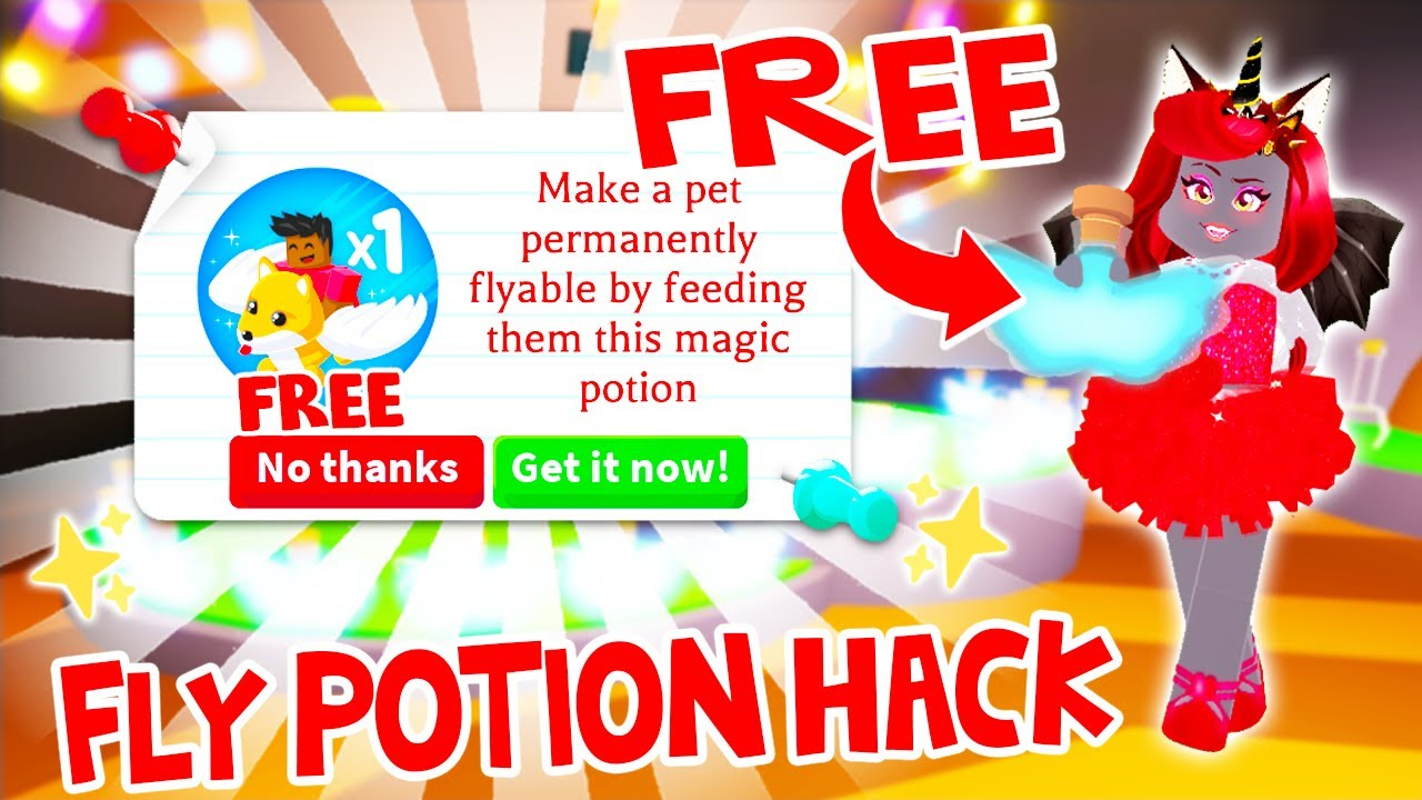 Will This Hack Give You Free Fly Potions In Adopt Me Roblox