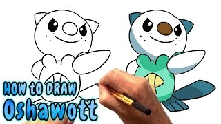 How to Draw Oshawott from Pokemon (NARRATED)