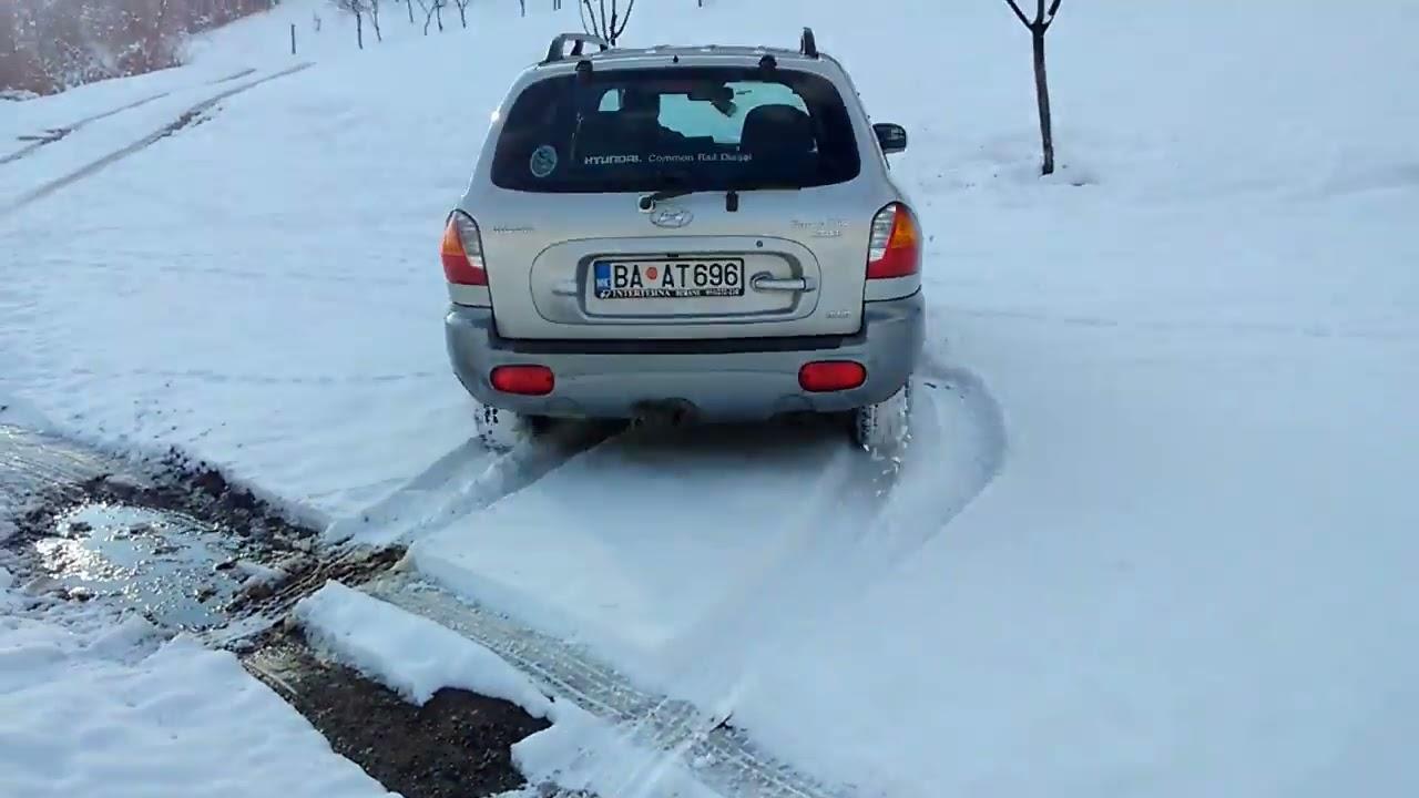 Hyundai Santa Fe 2003 2 0 Crd I Snow Road