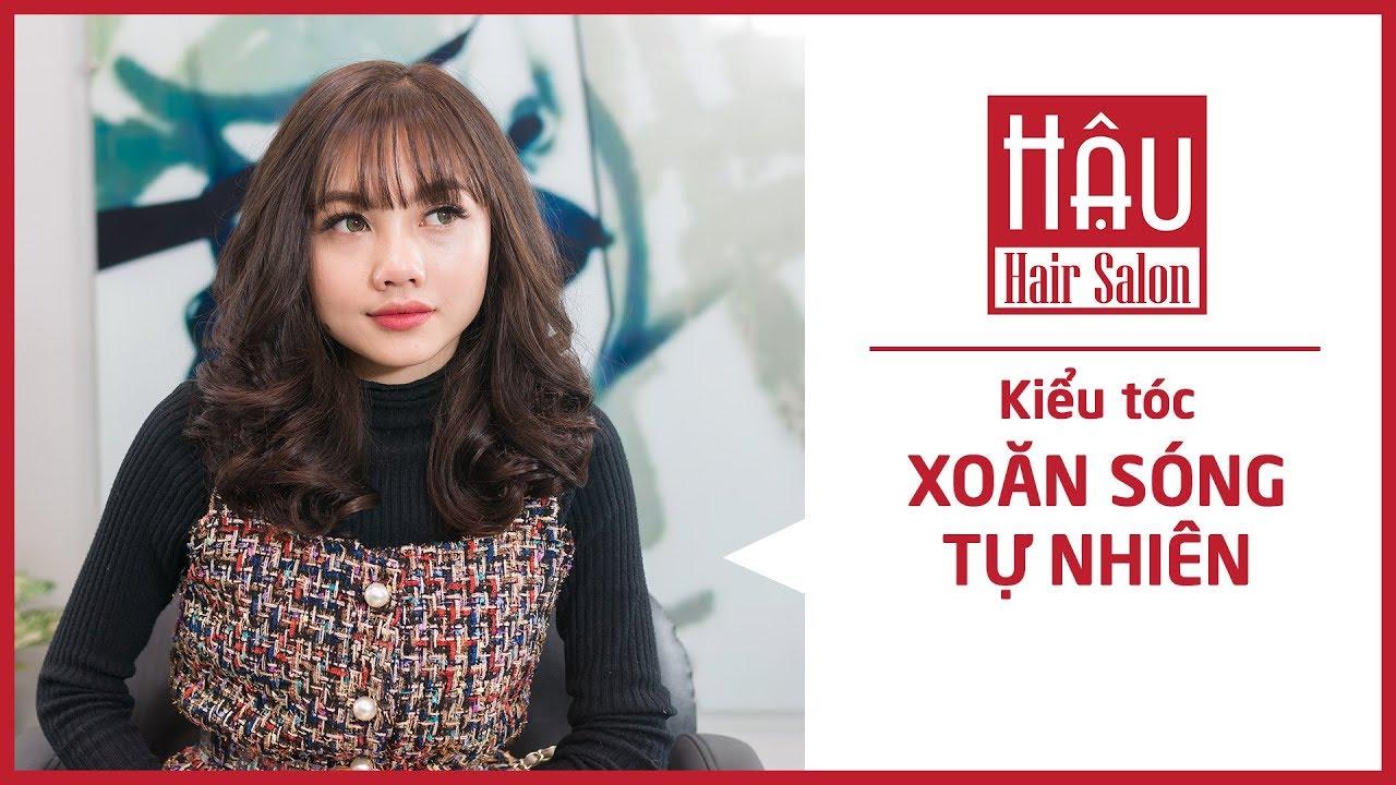 Kiểu tóc Xoăn Sóng Nước Tự Nhiên | Tóc nữ đẹp Hải Phòng | Hậu Salon | Bao quát các nội dung liên quan tóc đẹp cho nữ chính xác