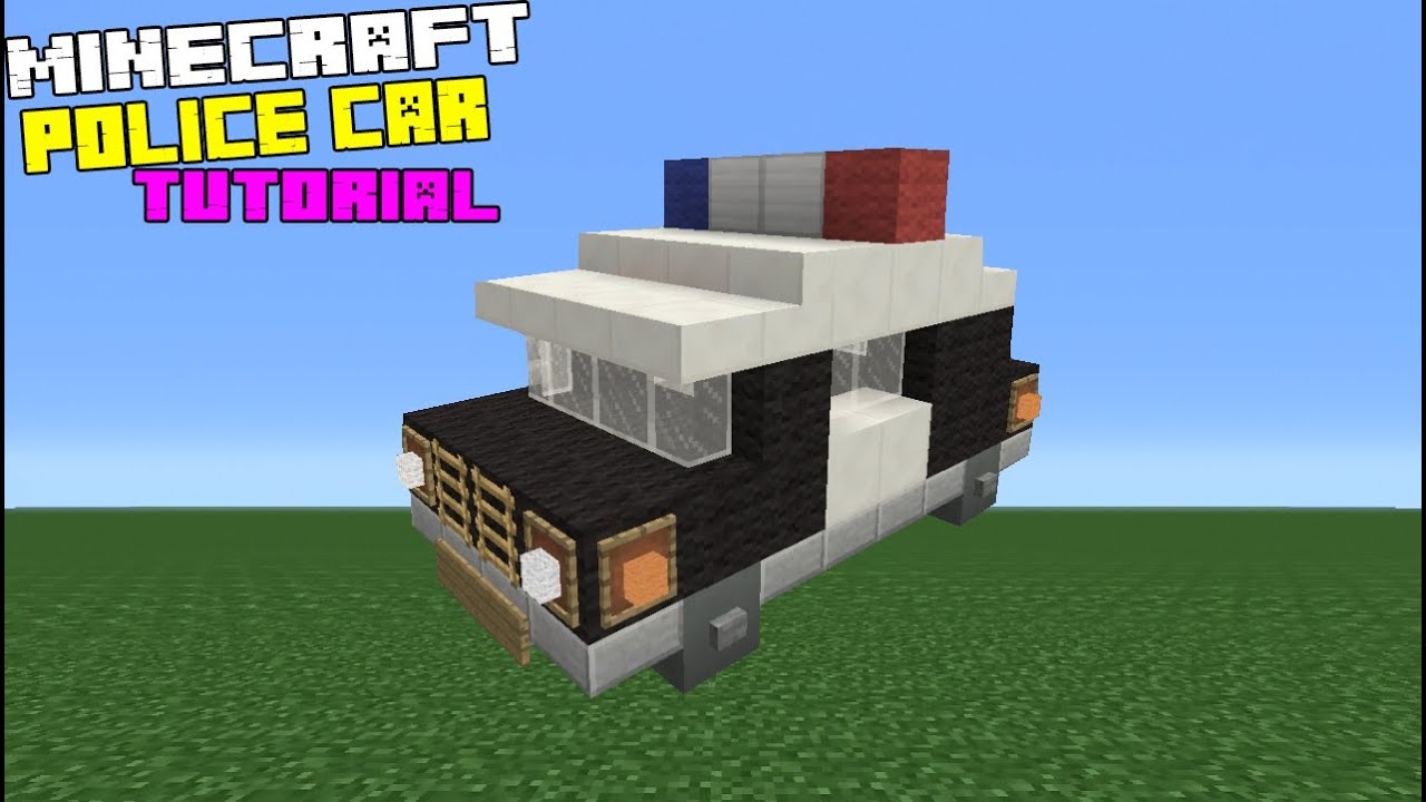 Minecraft Tutorial How To Make A Police Car Youtube
