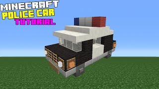 Minecraft Tutorial: How To Make A Police Car