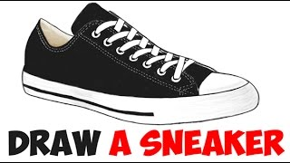 How to Draw Sneakers from the Side Easy Step by Step for Beginners Shoes Drawing Tutorial