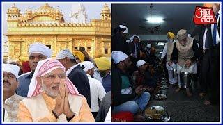 PM Modi Makes Surprise Visit To Amritsar's Golden Temple, Performs Langar Service