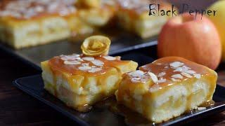 Торт - Пирог с яблоками и карамелью | Шеф Black Pepper