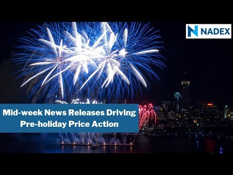 Mid-week News Releases Drive Market in Pre-holiday Price Action