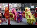 ⁴ᴷ Incredible Lion Dance On Stilts - Chinatown, NYC At Pearl River Mart   WCM Hung Gar Institute