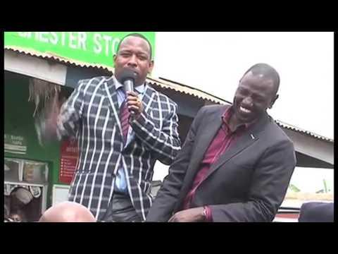 Uhuru,Ruto and Mike Sonko in Machakos County{#MikeSonkoTV}