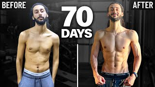 (REAL MOTIVATION) body transformation 2021 in 70 days
