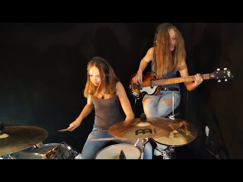 Billie jean michael jackson drum bass cover by milena and sina