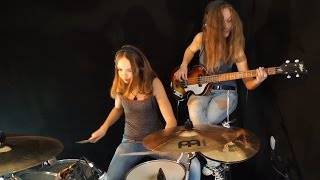 Download lagu Billie Jean (Michael Jackson); Drum/Bass Cover by Milena and Sina
