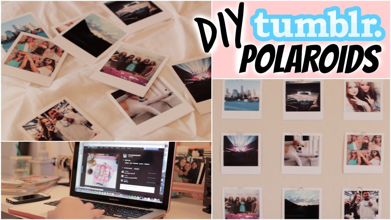 diy polaroids tumblr inspired