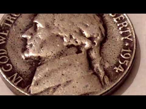 1954 and 1970 S Jefferson Nickel US Coins Valuable Five Cents Рідкісні монети США Рідкісні монети