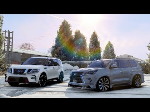 Wald Lexus Lx570 Vs Nissan Patrol Nismo Gta 5 Youtube