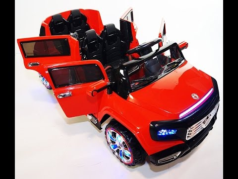 NEW 4 DOORS BATTERY OPERATED RIDE ON TOY CAR WITH REMOTE CONTROL 12 VOLTS. 4kids by 4KIDS