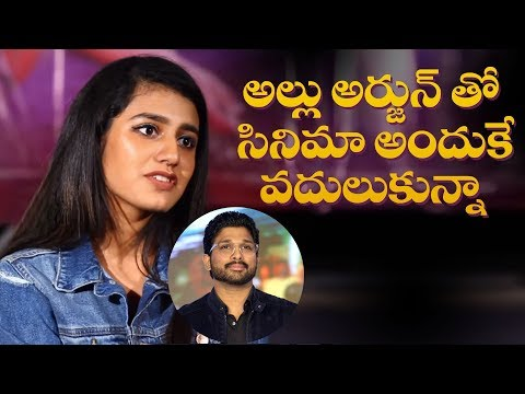 That''s why I missed Allu Arjun''s movie: Priya Prakash Varrier