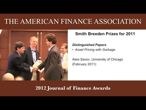 2012 Journal of Finance Awards
