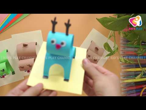 DIY Christmas Decorating Ideas | Guide to making paper reindeer for children