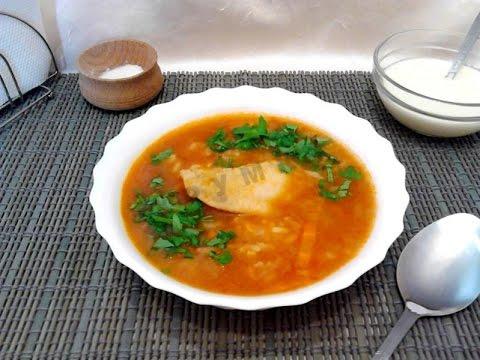 суп с рисом и мясом