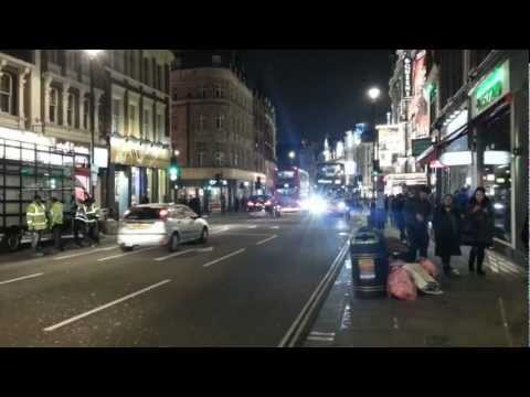 Shaftesbury Avenue at Night - March 2013