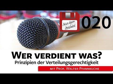 Prinzipien der Verteilungsgerechtigkeit: Wer verdient was?  - 05.11.2007 | AusdemArchiv (020)