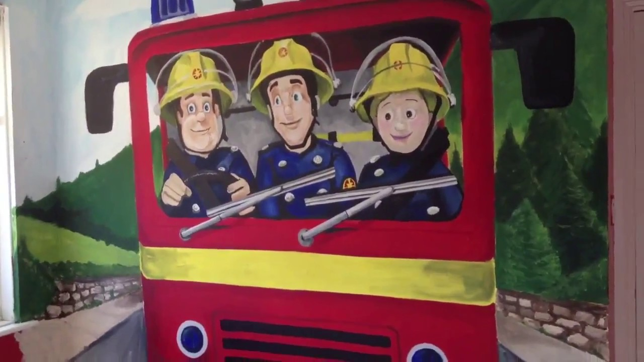Fireman Sam Hand Painted Mural By Drews Wonder Walls