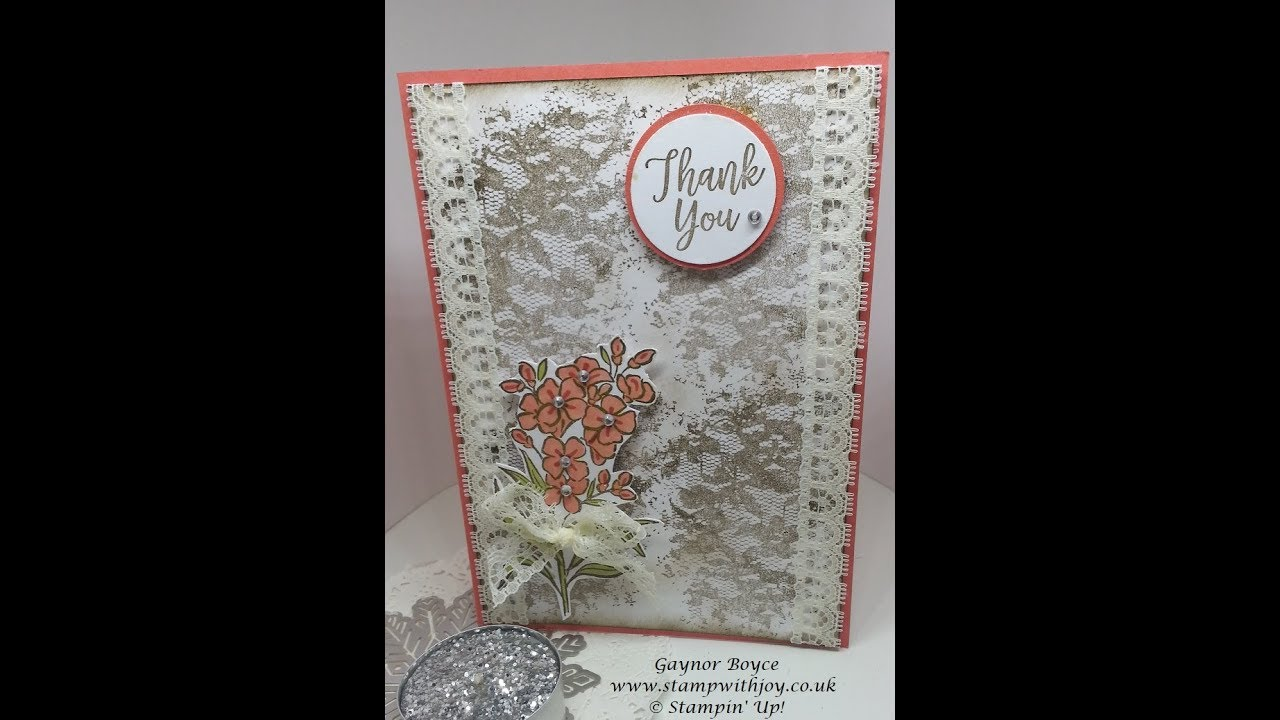 Shabby Chic Southern Serenade Thank You Card Stampin Up Youtube