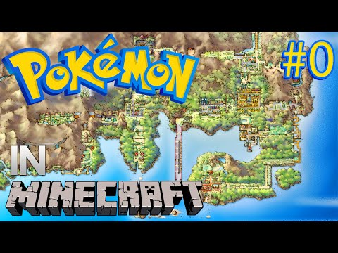 Minecraft:  Pokémon Kanto Flyover!