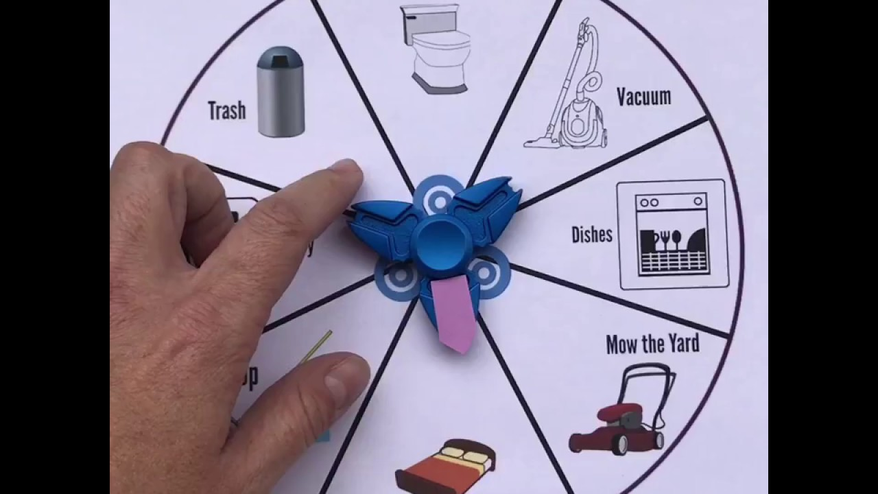 picture regarding Printable Spinner identify Fidget Spinner Chore Chart (Printable Integrated)