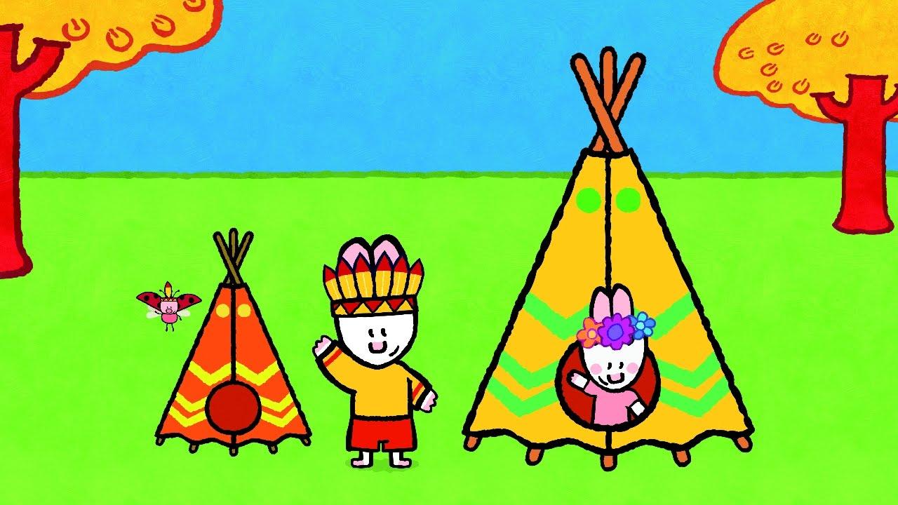 Didou dessine moi un tipi un chateau fort et une maison apprendre à dessiner pour les enfants