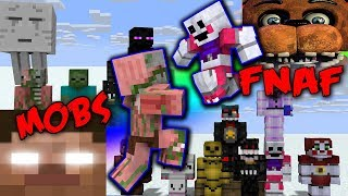 MONSTER SCHOOL | WWE CHALLENGE | MOBS VS FNAF - MINECRAFT ANIMATIONS