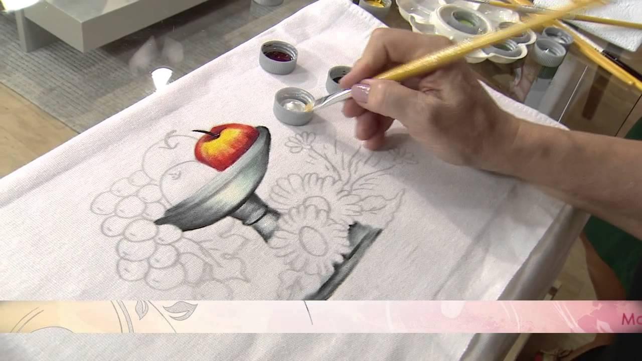 Aprenda a flores usando a t cnica de pintura em tecido - Como pintar un radiador ...