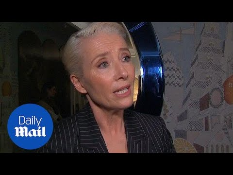 Emma Thompson shuts down reporter over Royal Wedding talk - Daily Mail