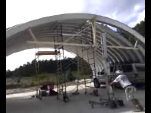 How to build a metal arch building the easy way 2015 (there is a second video as well)