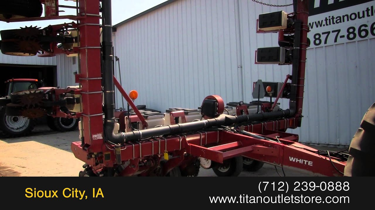 1994 White 6100 12r30 Vac Meter Vert Fold Row Unit Seed Sold On