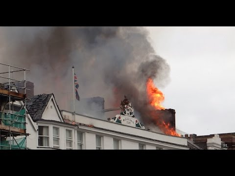 MAJOR FIRE Exeter City Centre - 28/10/2016 [RAW FOOTAGE]