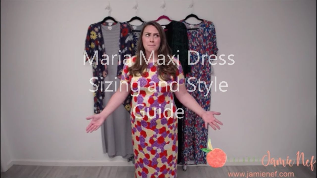 193f03ccf9c LuLaRoe Maria Maxi Dress Size and Style Guide - YouTube
