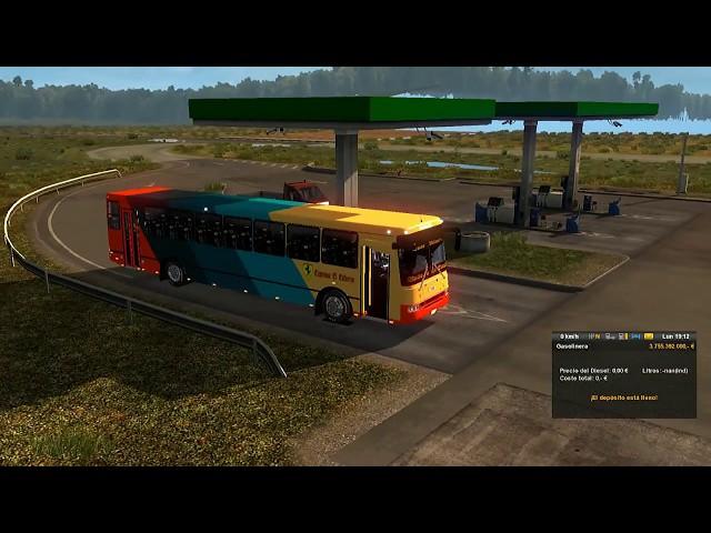 ETS2 mapa de venezuela recorriendo las carreteras de venezuela con un {bus encava}