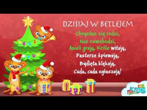 Dzisiaj w Betlejem - Polskie Kolędy + tekst (karaoke)