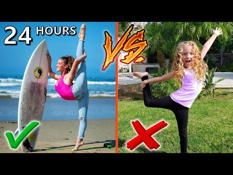 24 Hours as Sofie Dossi Challenge! Normal Person vs Contortionist!!!