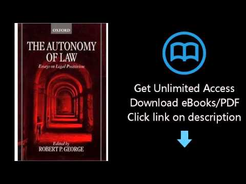 Download The Autonomy of Law: Essays on Legal Positivism PDF